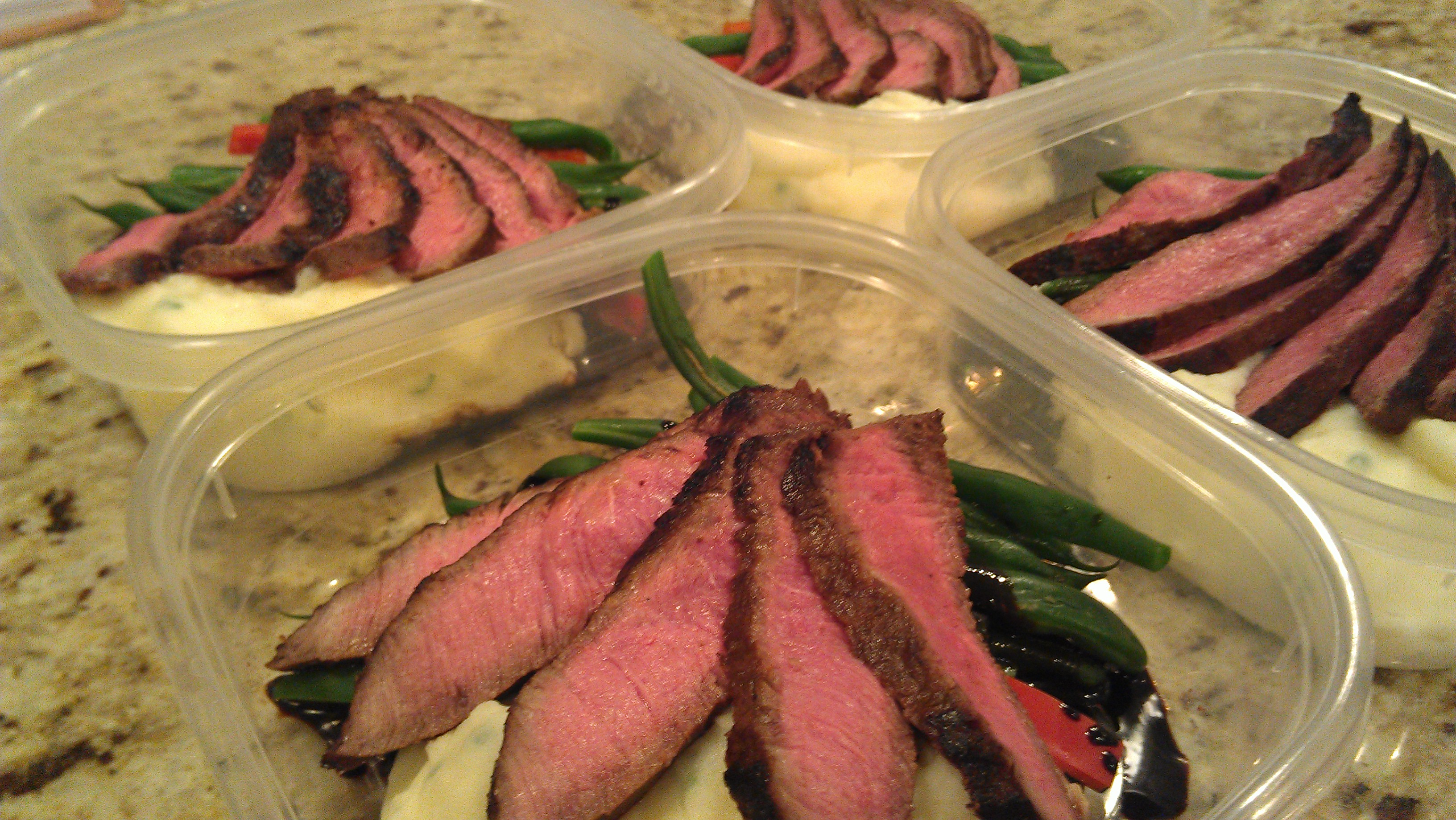 Marinated flat iron steak picture