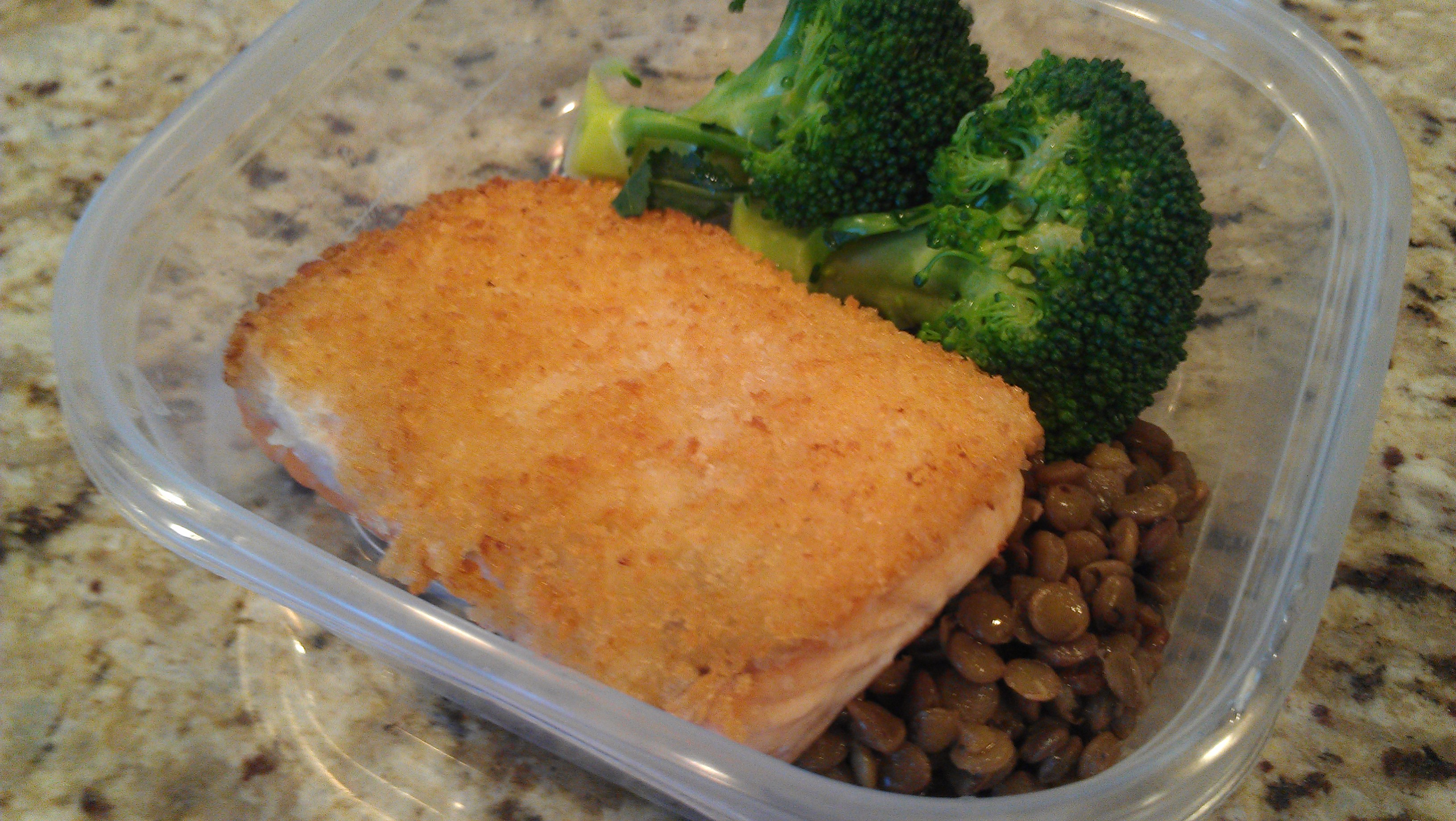 Horseradish crusted salmon pic