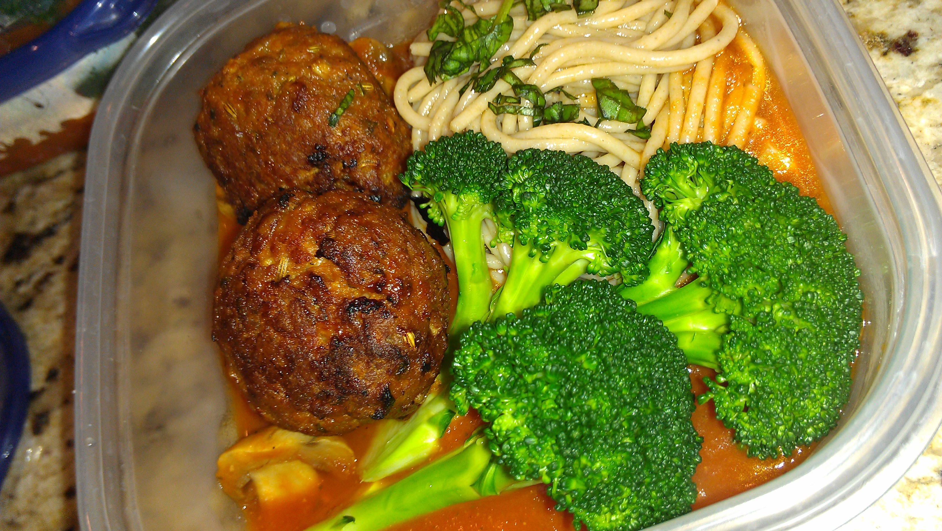 Low fat homemade meatballs pic