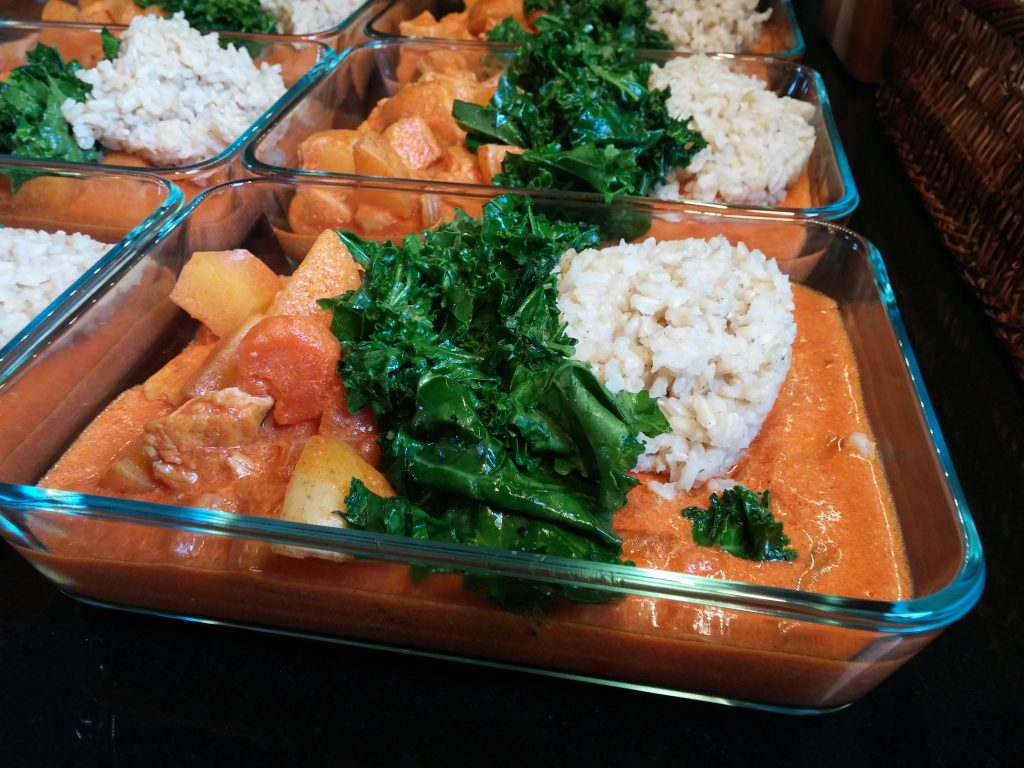 Turkey vindaloo meal prep image