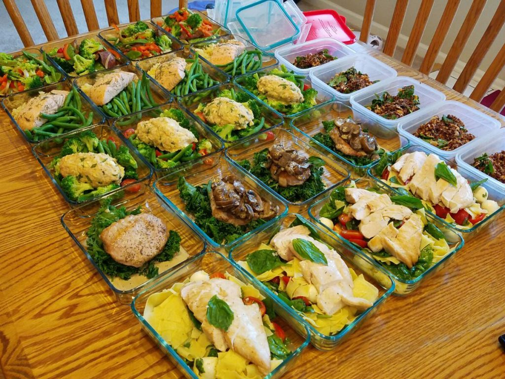 Weekly meal prep for 4