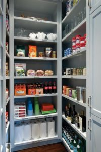 gray-walk-in-pantry-floor-to-ceiling-built-in-shelves-gray-shelves