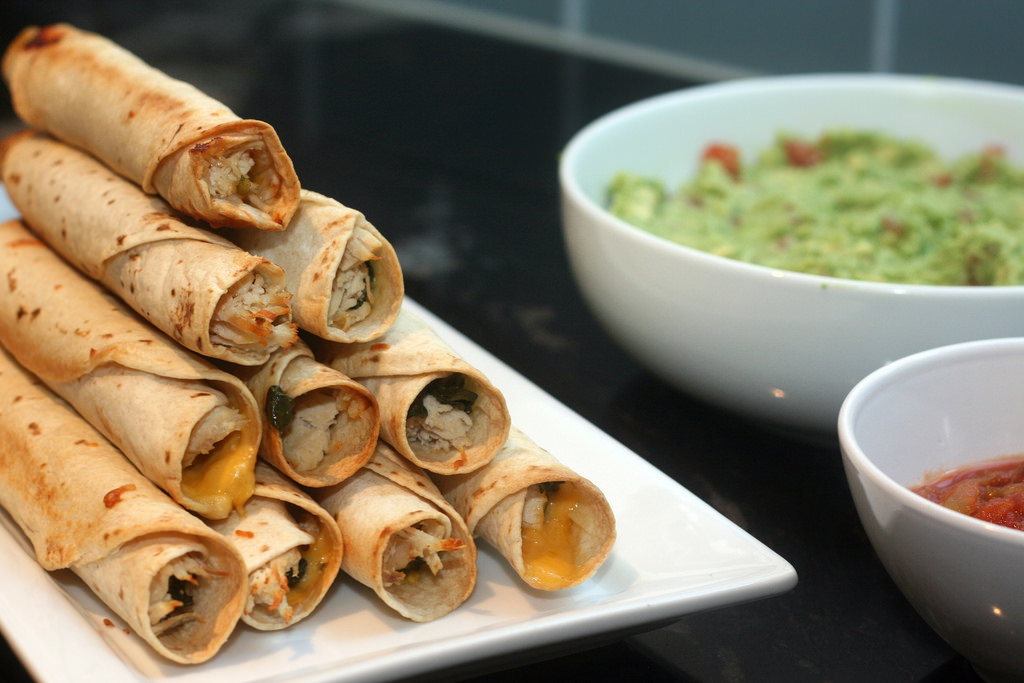 Shredded Chicken Taquitos