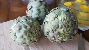 artichoke globes with tight leaves